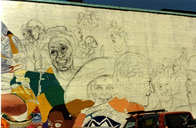 David fichter step by step mural process boston murals for A mural is painted on a